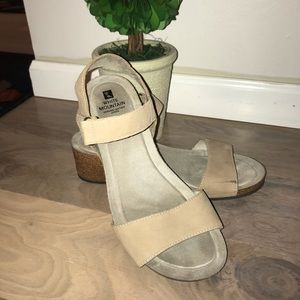 Wedge Sandals with Genuine Leather Upper